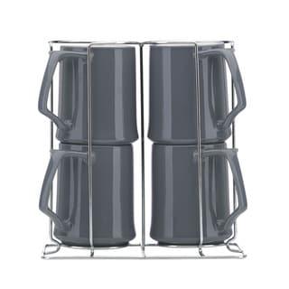 Lenox Kobenstyle Slate 4-piece Mug Set