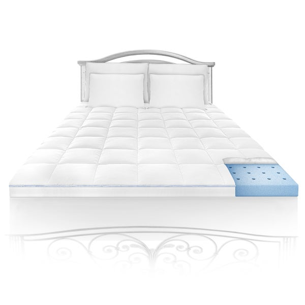 Swiss Lux Euro Cloud 1.5-inch Memory Foam Mattress Topper