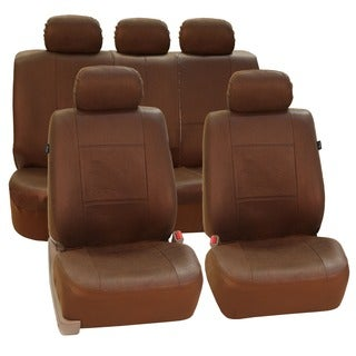 FH Group Brown Airbag-compatible Antique Style Seat Covers (Full Set)