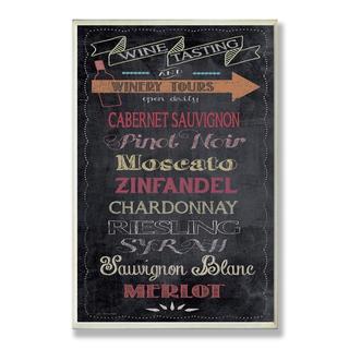 Wine Tasting' Chalkboard Wall Plaque