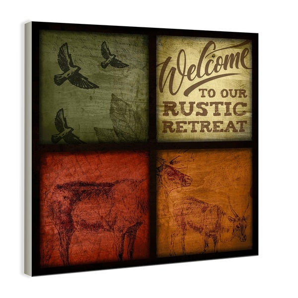 Rustic Wildlife Patchwork Oversized Wall Hanging