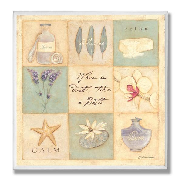 When In Doubt, Take a Bath' Square Wall Plaque