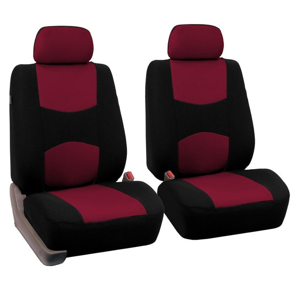 FH Group Burgundy Front Bucket Seat Covers (Set of 2)