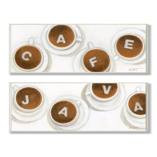 Must Have Java and Cafe Skinny Rect Plaque (Set of 2)