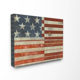 Distressed American Flag Oversized Wooden Plaque