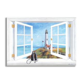 Pigeon Point Lighthouse Faux Window Scene