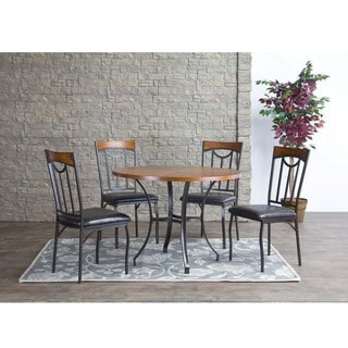 Baxton Studio Lancaster Wood and Metal Dining Chairs (Set of 4)