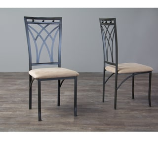Baxton Studio Mirabella Metal Dining Chairs Set of 4