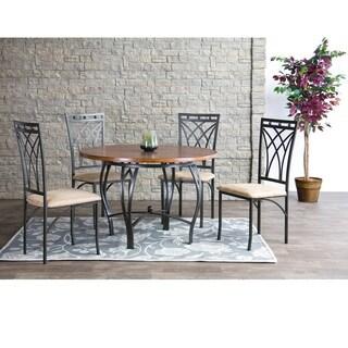 Baxton Studio Mirabella Wood and Metal 5PC Dining Set