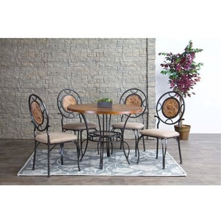 Baxton Studio Verona Wood and Metal Modern Dining Chairs Set of 4