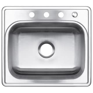 25-Inch Single Bowl Stainless Steel Top-mount Kitchen Sink