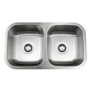 31-Inch Double Bowl Stainless Steel Under-mount Kitchen Sink