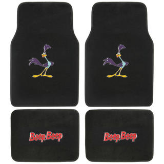 BDK Road Runner Floor Mats for Car 4-Piece Offcially Licensed Products