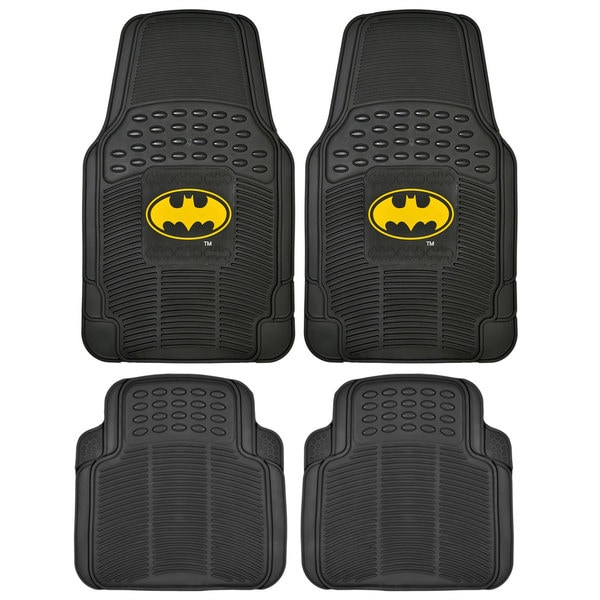 BDK Batman Rubber Floor Mats 4-Piece Officially Licensed Products