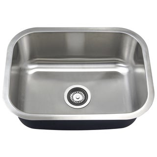 Single Bowl 23-Inch Stainless Steel Undermount Kitchen Sink