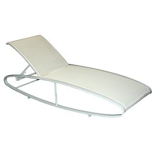 PURE DESIGNER Coated Aluminum/ Ferrari Batyline Sling Fabric Sun Lounger (Set of 2)