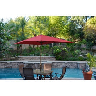 Aluminum Patio Market Umbrella Tilt with Champagne Pole