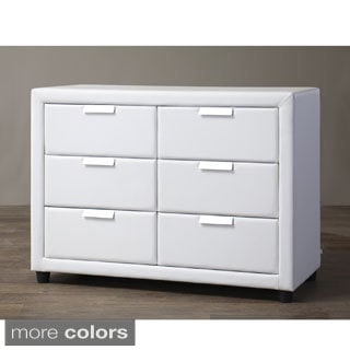 Baxton Studio Pageant Wood Contemporary Upholstered Dresser