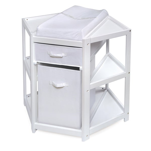 White Diaper Corner Baby Changing Table 16813066