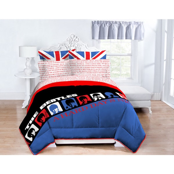 Beatles Hard Days Night 7-Piece Bed in a Bag Set