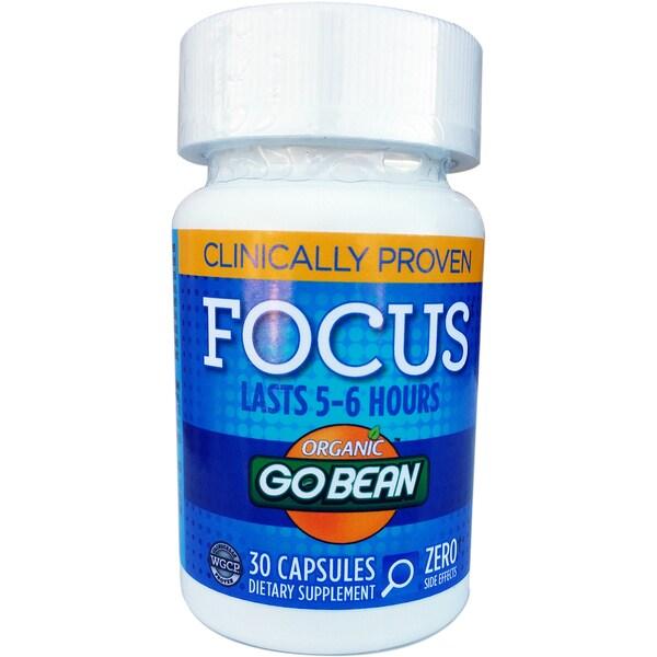 GoBean Green Coffee Bean Focus Supplement (30 Capsules)