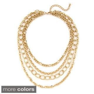 Lolita Jewelry 4-row Multi-chain Bib Necklace