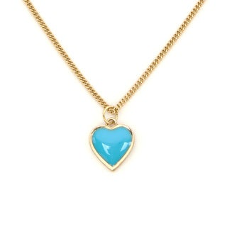Lolita Jewelry Enamel Heart Mini Pendant Necklace