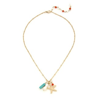 Lolita Jewelry Starfish Charm Cluster Necklace