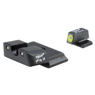 Trijicon HD Night Sights Smith and Wesson M and P Shield Yellow Front Outline