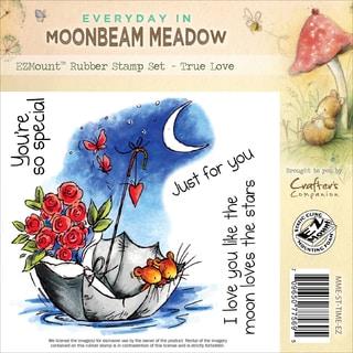 "Moonbeam Meadow Everyday EZMount Stamp Set 4.75""X4.75""-True Love"