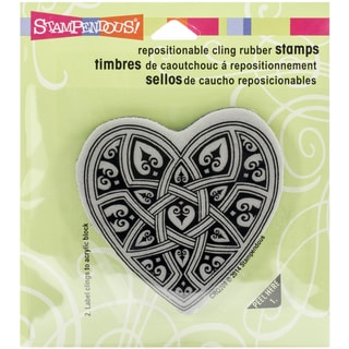 """Stampendous Cling Rubber Stamp 3.5""""X4"""" Sheet-Gothic Heart"""