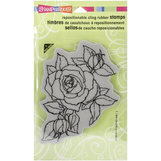 "Stampendous Cling Rubber Stamp 4""X6"" Sheet-Timeless Rose"