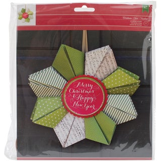 Christmas Cardstock Wreath Kit-Merry Christmas & Happy New Year