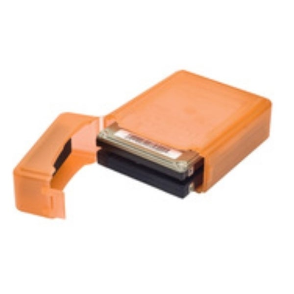 Syba Orange Plastic Storage Box for 2.5-inch HDD Fit 1 HDD Dustproof AntiStatic