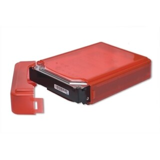 Syba Red Plastic Storage Box for 3.5-inch HDD Fit 1 HDD Dust-proof Anti-Static