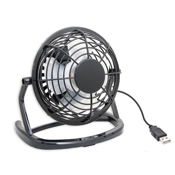 Syba Black Compact USB Desk Fan USB Powered with On/Off Switch