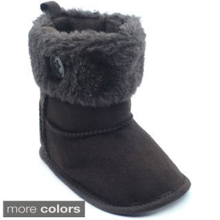 Blue Infant 'P-Odessa' Soft Suede Booties