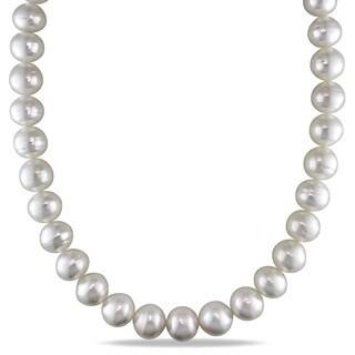 Miadora Signature Collection 14k White Gold South Sea Pearl and Diamond Accent Necklace (14-15 mm)