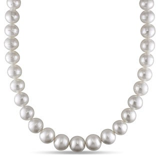 Miadora Signature Collection 14k White Gold South Sea Pearl and Diamond Accent Necklace (11-14 mm)