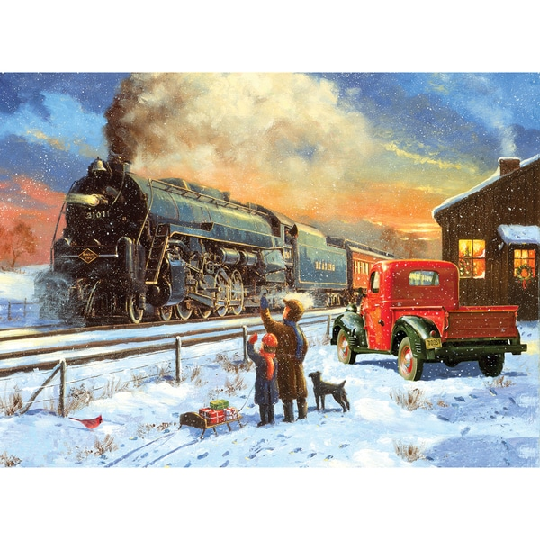 """Paint By Number Kit 15.375""""X11.25""""-Home For Christmas"""