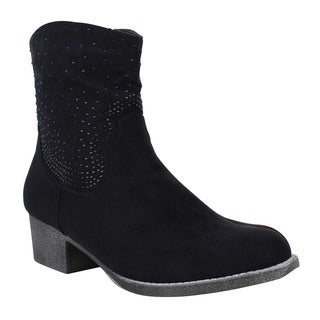 Mark and Maddux Women's 'Poppy-07' Studded Western Ankle Boots