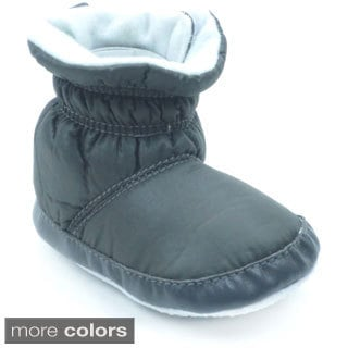 Blue Infant 'P-Snowman' Soft Fabric Fully-lined Booties