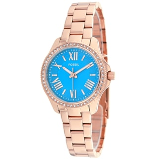 Fossil Women's AM4584 Cecile Small Round Rosegold Bracelet Watch