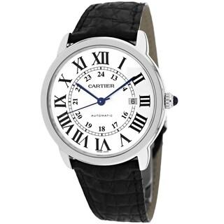 Cartier Men's W6701010 Ronde Solo Round Black Strap Watch