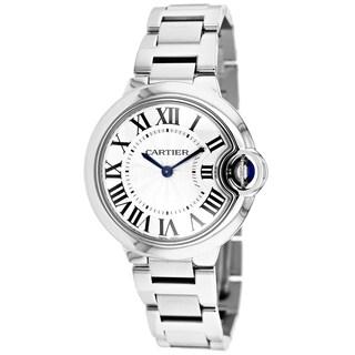 Cartier Women's W6920084 Ballon Bleu Round Silvertone Bracelet Watch
