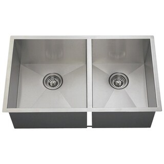 MR Direct 3322O 90-degree Double Rectangular Stainless Steel Sink