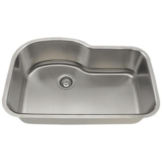MR Direct 346 Offset Single Bowl Stainless Steel Sink