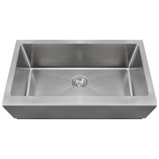 MR Direct 405 Single Bowl Stainless Steel Apron Sink