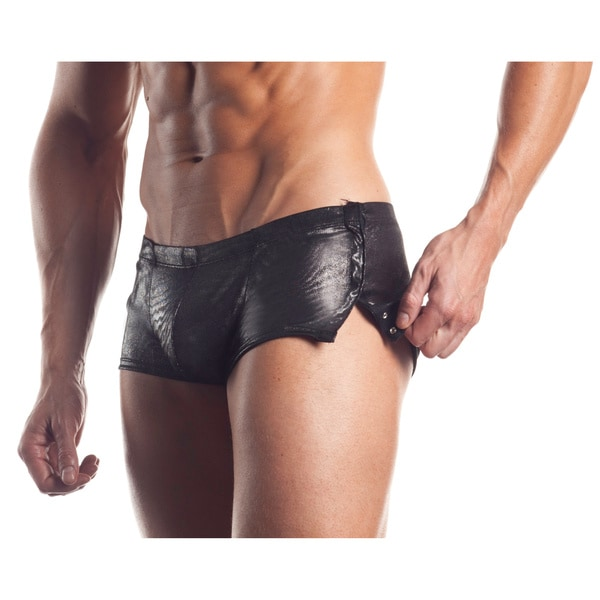 Fantasy Lingerie Excite for Men Metallic Sleek Trunks with Side Snaps