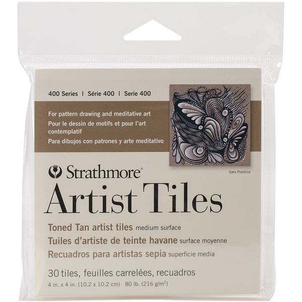 "Strathmore Tiles 4""X4"" 30/Pkg-Toned Tan"